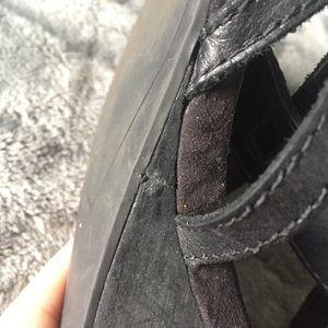 Franco Sarto Shoes - Franco Sarto Wedge Black Gladiator Sandals